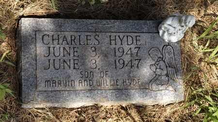HYDE, CHARLES - Franklin County, Texas   CHARLES HYDE - Texas Gravestone Photos