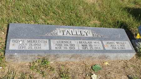TALLEY, VERNICE - Franklin County, Texas | VERNICE TALLEY - Texas Gravestone Photos