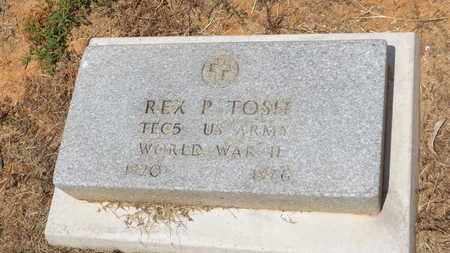 TOSH (VETERAN WWII), REX P - Franklin County, Texas | REX P TOSH (VETERAN WWII) - Texas Gravestone Photos