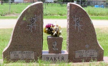 ANDERSON BAKER, EVIE - Freestone County, Texas | EVIE ANDERSON BAKER - Texas Gravestone Photos