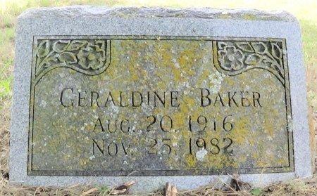 PRUITT BAKER, GERALDINE - Freestone County, Texas   GERALDINE PRUITT BAKER - Texas Gravestone Photos