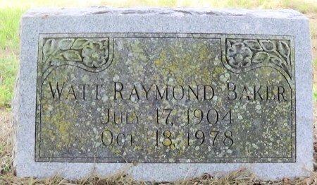 BAKER, WATT RAYMOND - Freestone County, Texas | WATT RAYMOND BAKER - Texas Gravestone Photos