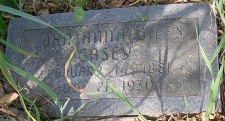 GILES CASEY, JOHN ANNA - Freestone County, Texas | JOHN ANNA GILES CASEY - Texas Gravestone Photos