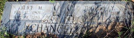 CHANCELLOR, ALICE M - Freestone County, Texas | ALICE M CHANCELLOR - Texas Gravestone Photos