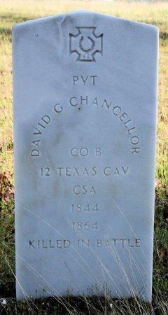 CHANCELLOR (VETERAN CSA KIA), DAVID G. - Freestone County, Texas   DAVID G. CHANCELLOR (VETERAN CSA KIA) - Texas Gravestone Photos