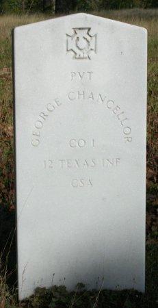 CHANCELLOR (VETERAN CSA), GEORGE - Freestone County, Texas | GEORGE CHANCELLOR (VETERAN CSA) - Texas Gravestone Photos