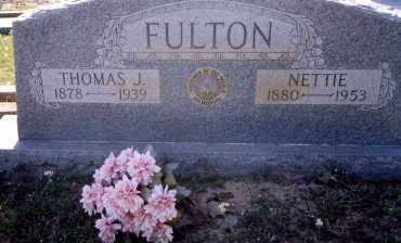 FULTON, NETTIE - Freestone County, Texas | NETTIE FULTON - Texas Gravestone Photos