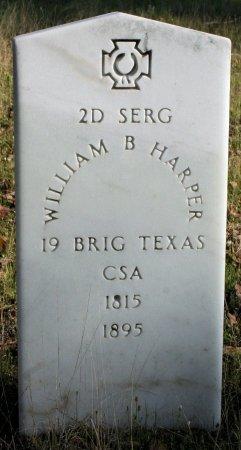 HARPER (VETERAN CSA), WILLIAM B. - Freestone County, Texas | WILLIAM B. HARPER (VETERAN CSA) - Texas Gravestone Photos