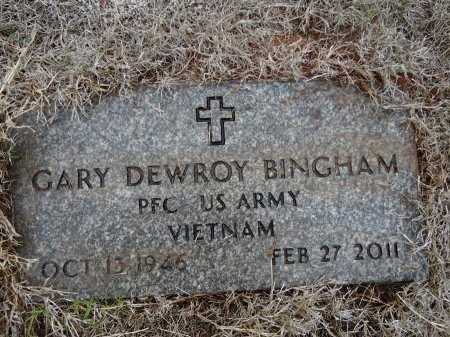 BINGHAM (VETERAN VIET), GARY DEWROY - Gaines County, Texas | GARY DEWROY BINGHAM (VETERAN VIET) - Texas Gravestone Photos