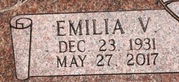 GONZALES, EMILIA V. (CLOSEUP VIEW) - Gaines County, Texas | EMILIA V. (CLOSEUP VIEW) GONZALES - Texas Gravestone Photos