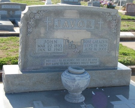 JAVOR, ROSE - Galveston County, Texas | ROSE JAVOR - Texas Gravestone Photos