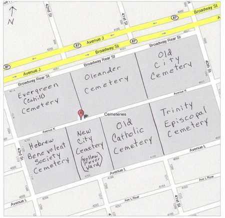 MAP, A - Galveston County, Texas   A MAP - Texas Gravestone Photos
