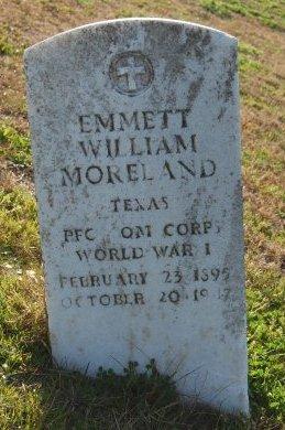 MORELAND, EMMETT WILLIAM - Galveston County, Texas | EMMETT WILLIAM MORELAND - Texas Gravestone Photos