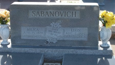 SABANOVICH, LEON - Galveston County, Texas | LEON SABANOVICH - Texas Gravestone Photos