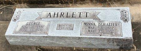SCHAEFER AHRLETT, MINNA - Gillespie County, Texas | MINNA SCHAEFER AHRLETT - Texas Gravestone Photos