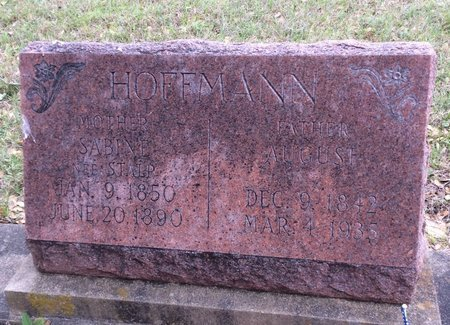 HOFFMAN, AUGUST - Gillespie County, Texas   AUGUST HOFFMAN - Texas Gravestone Photos