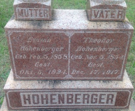 HOHENBERGER, THEODOR (CLOSE UP) - Gillespie County, Texas | THEODOR (CLOSE UP) HOHENBERGER - Texas Gravestone Photos