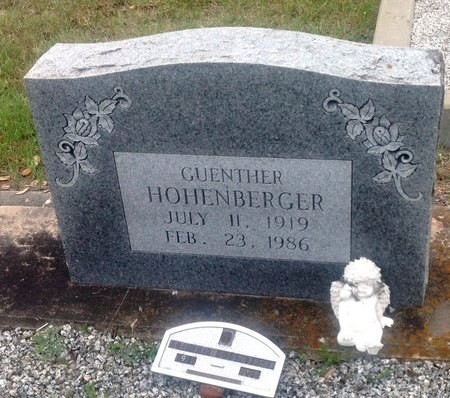 HOHENBERGER, GUENTHER - Gillespie County, Texas | GUENTHER HOHENBERGER - Texas Gravestone Photos