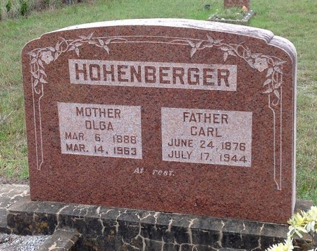 HOHENBERGER, OLGA - Gillespie County, Texas | OLGA HOHENBERGER - Texas Gravestone Photos