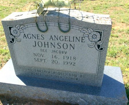 JOHNSON, AGNES ANGELINE - Gillespie County, Texas | AGNES ANGELINE JOHNSON - Texas Gravestone Photos
