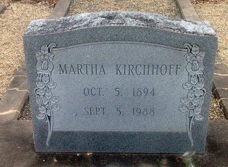KIRCHHOFF, MARTHA - Gillespie County, Texas | MARTHA KIRCHHOFF - Texas Gravestone Photos