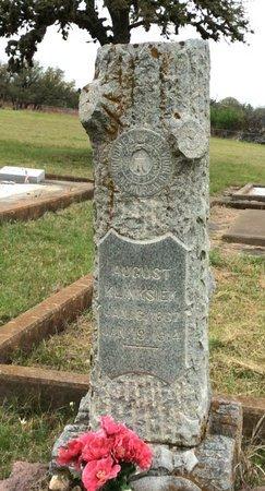 KLINKSIEK, AUGUST - Gillespie County, Texas | AUGUST KLINKSIEK - Texas Gravestone Photos