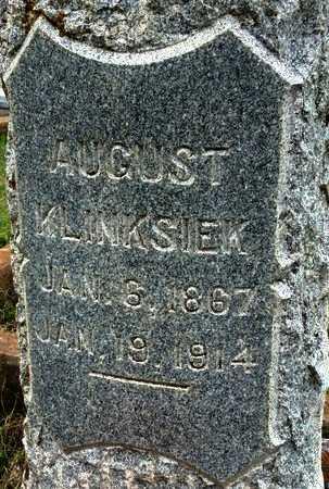 KLINKSIEK, AUGUST (CLOSE UP) - Gillespie County, Texas | AUGUST (CLOSE UP) KLINKSIEK - Texas Gravestone Photos