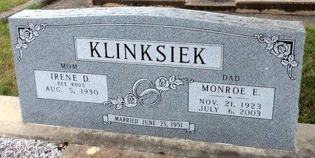 KLINKSIEK, MONROE E. - Gillespie County, Texas | MONROE E. KLINKSIEK - Texas Gravestone Photos