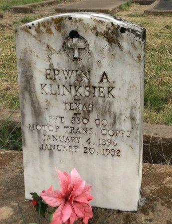 KLINKSIEK (VETERAN), ERWIN A - Gillespie County, Texas | ERWIN A KLINKSIEK (VETERAN) - Texas Gravestone Photos