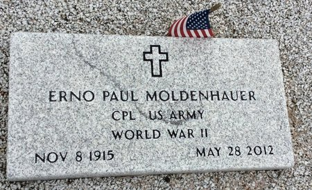 MOLDENHAUER (VETERAN WWII), ERNO PAUL - Gillespie County, Texas | ERNO PAUL MOLDENHAUER (VETERAN WWII) - Texas Gravestone Photos