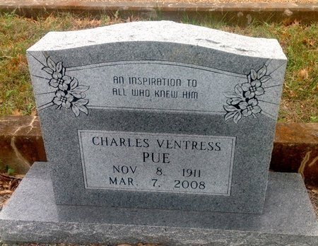 PUE, CHARLES VENTRESS - Gillespie County, Texas | CHARLES VENTRESS PUE - Texas Gravestone Photos