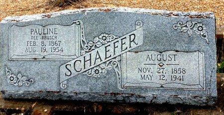 SCHAEFER, AUGUST - Gillespie County, Texas | AUGUST SCHAEFER - Texas Gravestone Photos