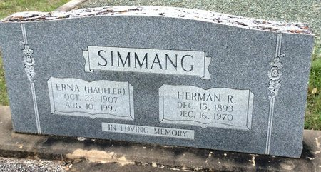 SIMMANG, HERMAN R. - Gillespie County, Texas | HERMAN R. SIMMANG - Texas Gravestone Photos