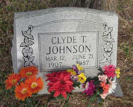 JOHNSON, CLYDE T - Goliad County, Texas   CLYDE T JOHNSON - Texas Gravestone Photos
