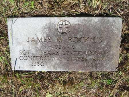 BOCKIUS, JAMES M. - Gonzales County, Texas | JAMES M. BOCKIUS - Texas Gravestone Photos