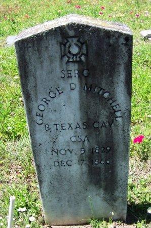 MITCHELL (VETERAN CSA), GEORGE D - Gonzales County, Texas | GEORGE D MITCHELL (VETERAN CSA) - Texas Gravestone Photos