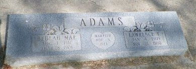 ADAMS, BEULAH MAE - Grayson County, Texas | BEULAH MAE ADAMS - Texas Gravestone Photos