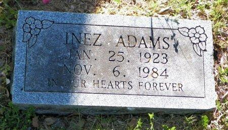 ADAMS, INEZ - Grayson County, Texas   INEZ ADAMS - Texas Gravestone Photos
