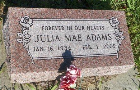 ADAMS, JULIA MAE - Grayson County, Texas | JULIA MAE ADAMS - Texas Gravestone Photos