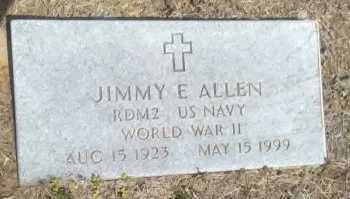 ALLEN (VETERAN WWII), JIMMY E. - Grayson County, Texas | JIMMY E. ALLEN (VETERAN WWII) - Texas Gravestone Photos