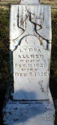 ALLRED, LYDIA - Grayson County, Texas   LYDIA ALLRED - Texas Gravestone Photos
