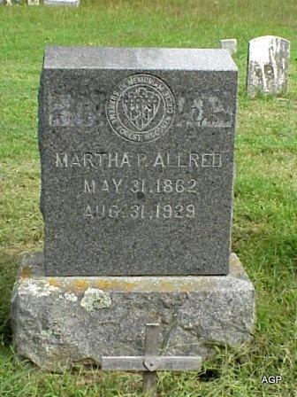 ALLRED, MARTHA PATSY - Grayson County, Texas | MARTHA PATSY ALLRED - Texas Gravestone Photos
