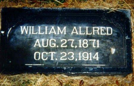 ALLRED, WILLIAM - Grayson County, Texas | WILLIAM ALLRED - Texas Gravestone Photos