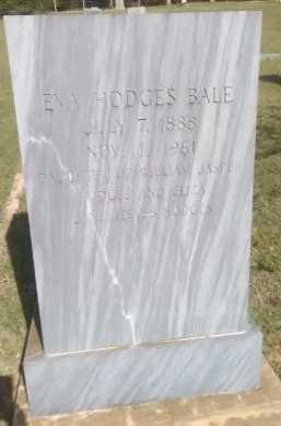 BALE, EVA - Grayson County, Texas | EVA BALE - Texas Gravestone Photos