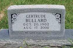 BULLARD, GERTRUDE - Grayson County, Texas   GERTRUDE BULLARD - Texas Gravestone Photos