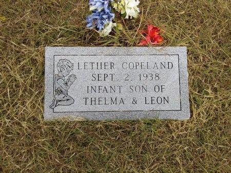 COPELAND, LETHER - Grayson County, Texas   LETHER COPELAND - Texas Gravestone Photos