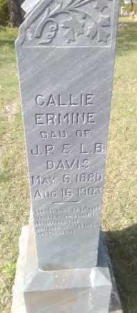 DAVIS, CALLIE ERMINE - Grayson County, Texas   CALLIE ERMINE DAVIS - Texas Gravestone Photos