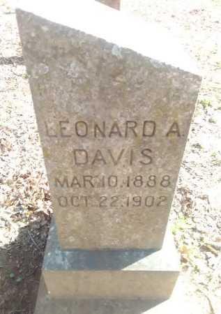 DAVIS, LEONARD A  - Grayson County, Texas | LEONARD A  DAVIS - Texas Gravestone Photos