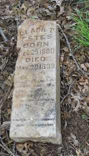 ESTES, CLARK T. - Grayson County, Texas | CLARK T. ESTES - Texas Gravestone Photos