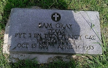 GRAY (VETERAN WWI), SAM - Grayson County, Texas | SAM GRAY (VETERAN WWI) - Texas Gravestone Photos